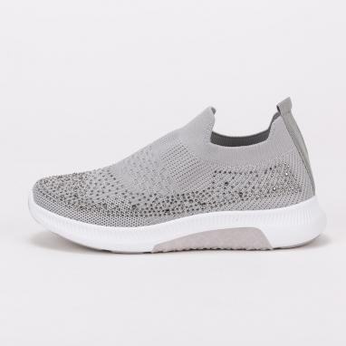 Knit sneakers με στρας
