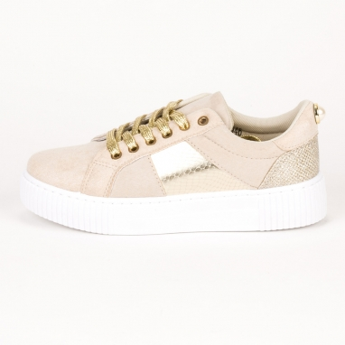 Sneakers με λευκή σόλα