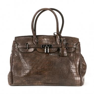 Κροκό τσάντα με ζωνάκι