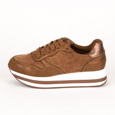 Suede flatform sneakers