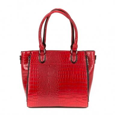 Τσάντα με υφή croco