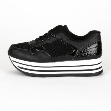 Flatform sneakers με στρας