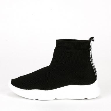 Μαύρα sneakers κάλτσα
