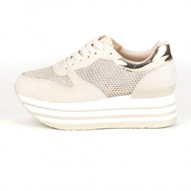 Flatform sneakers με διάτρητο σχέδιο