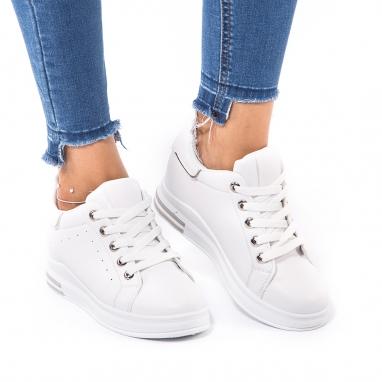 Λευκά sneakers με εσωτερικό τακούνι