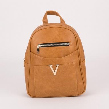 Τσάντα πλάτης με ανάγλυφα και μεταλλικά σχέδια