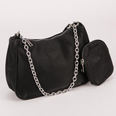 Τσάντα ώμου με πορτοφολάκι