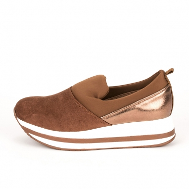 Suede slip on sneakers