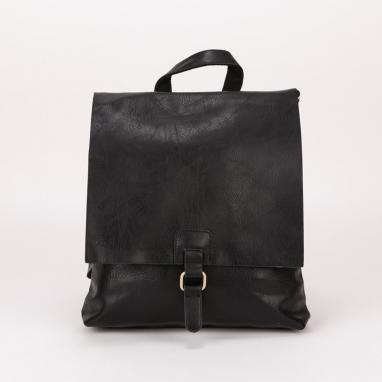 Ορθογώνια τσάντα πλάτης με καπάκι