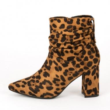 Λεοπάρ ankle boots