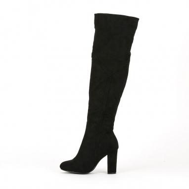 Suede μπότες ως το γόνατο