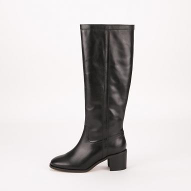 Δερμάτινες μπότες Paola Ferri με μεσαίο τακούνι