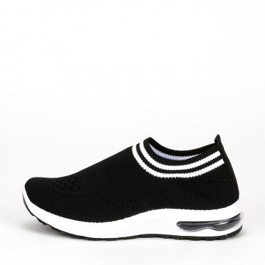 Knit sneakers με διχρωμία