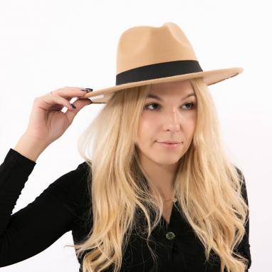 Μάλλινο καπέλο με κορδέλα