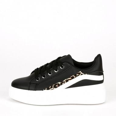 Δίσολα sneakers με animal print
